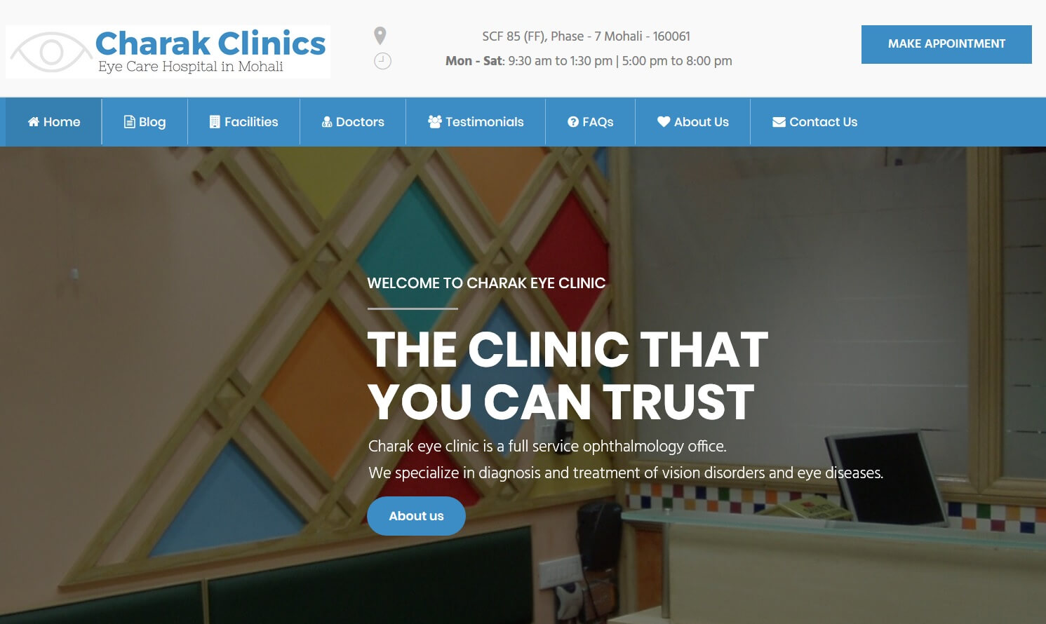 Charak Clinics | Child Care and Eye Care Clinic in Mohali , Punjab